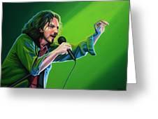 Eddie Vedder Of Pearl Jam Greeting Card by Paul Meijering