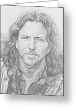 Eddie Vedder Greeting Card by Olivia Schiermeyer
