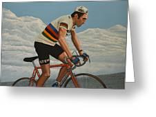 Eddy Merckx Greeting Card by Paul Meijering