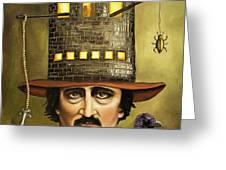Edgar Allan Poe Greeting Card by Leah Saulnier The Painting Maniac