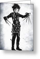 Edward Scissorhands - Johnny Depp Greeting Card by Ayse Deniz