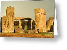 Eerie Stonehenge 4 Greeting Card by Deborah Smolinske