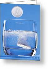 Effervescent Tablets In Water Greeting Card by Martyn F. Chillmaid