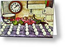 Eggs On Display Greeting Card by Chuck Staley