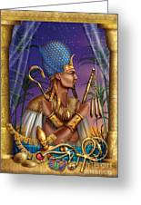 Egyptian Triptych Variant I Greeting Card by Ciro Marchetti
