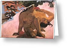 Eh Quoi Es-tu Jalouse Greeting Card by Paul Gauguin