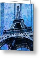 Eiffel Tower 2 Greeting Card by Jack Zulli