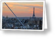 Eiffel Tower From Above Greeting Card by Joan  Minchak