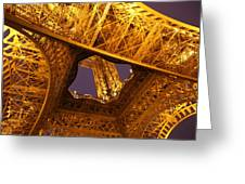 Eiffel Tower - Paris France - 011312 Greeting Card by DC Photographer