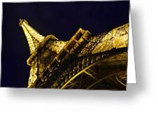 Eiffel Tower Paris France Side Greeting Card by Patricia Awapara