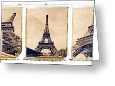 Eiffel Tower Greeting Card by Tony Cordoza