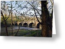 Eight Arch Bridge In Spring Greeting Card by Toni Kistner