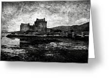 Eilean Donan castle in Scotland BW Greeting Card by RicardMN Photography