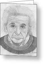 Einstein Portrait Greeting Card by Jose Valeriano