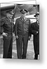 Eisenhower & Marshall 1944 Greeting Card by Granger