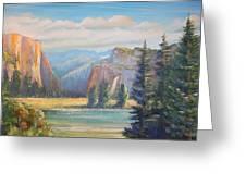 El Capitan  Yosemite National Park Greeting Card by Remegio Onia