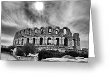 El Jem Colosseum 2 Greeting Card by Dhouib Skander