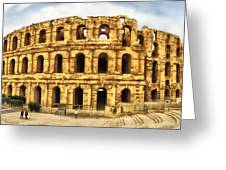 El Jem Colosseum Greeting Card by Dhouib Skander