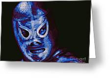 El Santo The Masked Wrestler 20130218m168 Greeting Card by Wingsdomain Art and Photography