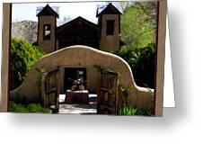 El Santuario De Chimayo Greeting Card by Kurt Van Wagner