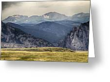 Eldorado Canyon And Continental Divide Above Greeting Card by James BO  Insogna