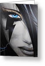 'electric Sin' Greeting Card by Christian Chapman Art