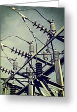 Electricity Greeting Card by Edward Fielding