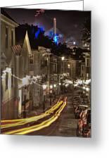 Electrified Boston Greeting Card by Joann Vitali