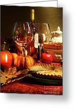 Elegant Festive Table Greeting Card by Sandra Cunningham