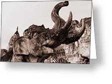 Elephant Architecture Greeting Card by Ramona Johnston