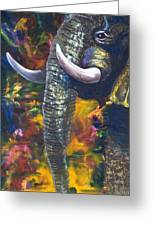 Elephant Greeting Card by Kd Neeley