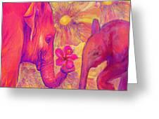 Elephant Love Greeting Card by Jane Schnetlage