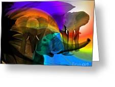 Elephant Walk Greeting Card by Sydne Archambault
