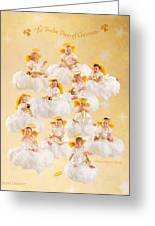 Eleven Pipers Piping Greeting Card by Anne Geddes