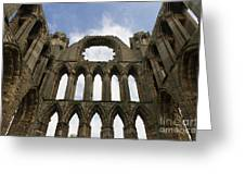 Elgin Cathedral Ruins Greeting Card by Ron Pettitt