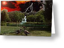 Elizabeth Park Greeting Card by Michael Rucker