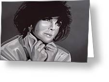 Elizabeth Taylor Greeting Card by Paul Meijering