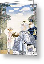 Elizabethan England Greeting Card by Georges Barbier