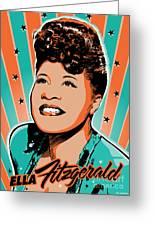 Ella Fitzgerald Pop Art Greeting Card by Jim Zahniser