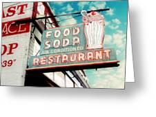 Elliston Place Soda Shop Greeting Card by Amy Tyler