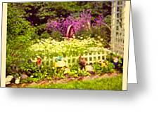 Elna's Garden 2 Greeting Card by Donna Munro