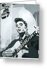 Elvis At Sun Greeting Card by Suzanne Gee