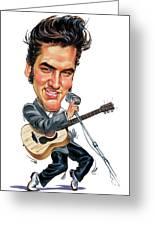 Elvis Presley Greeting Card by Art