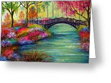 Elysian Bridge Greeting Card by Ann Marie Bone