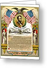 Emancipation Proclamation Tribute 1888 Greeting Card by Daniel Hagerman