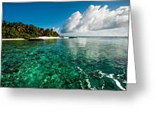 Emerald Purity. Kuramathi Resort. Maldives Greeting Card by Jenny Rainbow