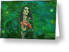 Emerald Universe Greeting Card by Michael Rucker