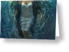 Emerge Painting Greeting Card by Mia Tavonatti