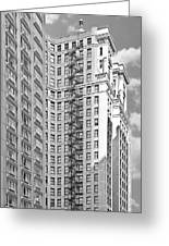Emergency Exit Chicago Il Greeting Card by Christine Till