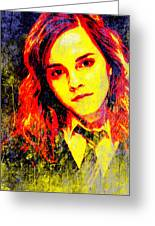 Emma Watson As Hermione Granger Greeting Card by John Novis